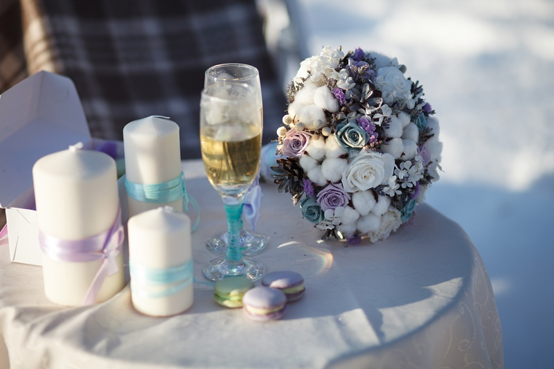 Winter wedding decorations Devon